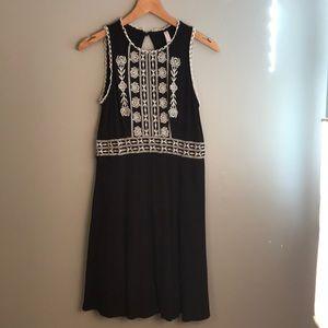 Brown mid-length cotton dress